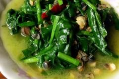 韭菜炒螺丝肉