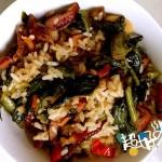 腊肉笋叶煲仔饭(电饭煲版)
