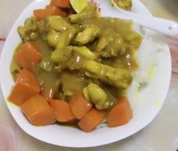 咖喱鸡腿饭