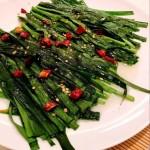 微波炉烧烤韭菜