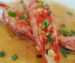 蒜蓉开背大红虾