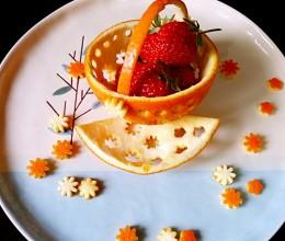 橙子花篮(摆盘装饰)
