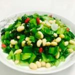 芥菜拌黄豆