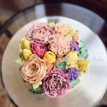 韓式豆沙裱花蛋糕