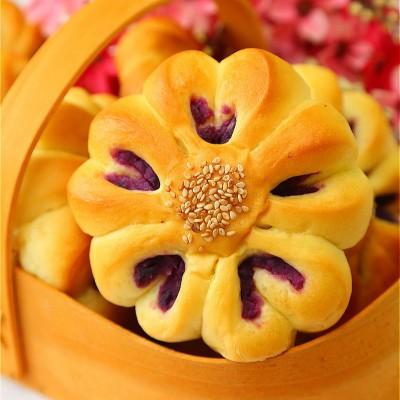 花形紫薯面包