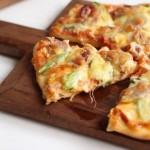 广式腊肠芦笋披萨