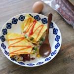 广式腊肠蛋包饭