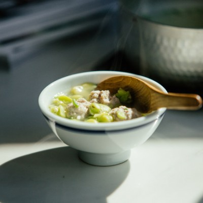 【山姆厨房】蚕豆肉丸汤