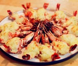 薯泥芝士焗大虾(图解开背虾)