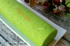 菠菜汁蛋糕卷