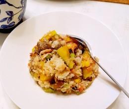 香煎三文鱼拌饭