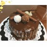 巧克力滴落蛋糕