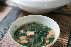 蒲公英黄金豆腐汤
