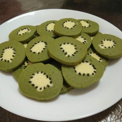 抹茶猕猴桃黄油饼干