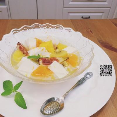 清爽水果椰子布丁